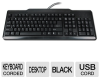 104 Keyboard Black USB -- 806656T - Image