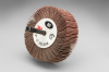 3M 244D Coated Aluminum Oxide Flap Wheel - 120 Grit - 1 in Face Width - 3 in Diameter - 14657 -- 051144-14657 - Image
