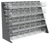 Akro-Mils Akrobin 30651 1000 lb Clear Gray Powder Coated Cold Rolled Steel 16 ga Single Sided Single Sided Louvered Floor Rack - 35 3/4 in Overall Length - 17 in Width - 75 1/8 in Height - 30651220SC -- 30651220SC - Image