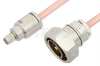 SMA Male to 7/16 DIN Male Cable 12 Inch Length Using RG401 Coax -- PE36167-12 -Image