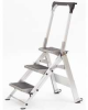 LITTLE GIANT 3-Step Aluminum Safety Step Ladder W/Bar -- Model# 10310BA