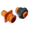 Full Plastic Direct, In-line, And Bulkhead Connectors -- APD 4-Way High Voltage