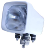 50 watt HID Boat Light - 6X6 square - 4500 lumens -12/24VDC - FLOOD 340'X340' - White -- HID-66-W-F