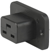 IEC Appliance Outlet J, Screw-on Mounting, Front Side, Quick-connect Terminal