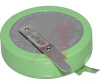Battery, Lithium, Coin Cell, InsulationWrapped Tabs, 3V, 1000mAh, High Temp -- 70196835 - Image