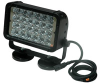 Infrared LED Light Emitter - 24, 3-Watt LEDs - 900'L X 100'W Spot Beam - Magnetic Mount -- LEDLB-24E-IR-M