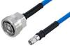 Plenum 7/16 DIN Female to SMA Male Low PIM Cable 12 Inch Length Using SPP-250-LLPL Coax , LF Solder -- PE3C5858-12 -Image
