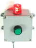 Alarm and Monitoring Panel with Audible Alarm and LED Flashing Strobe -- AL-MP2