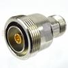 7/16 DIN Female (Jack) to SC Female (Jack) Adapter, Nickel Plated Brass Body, High Temp, 1.25 VSWR -- SM4644 - Image