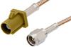 SMA Male to Curry FAKRA Plug Cable 12 Inch Length Using RG316 Coax -- PE39343K-12 -Image