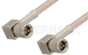 10-32 Male Right Angle to 10-32 Male Right Angle Cable 72 Inch Length Using RG316 Coax, RoHS -- PE36536LF-72 -- View Larger Image