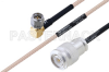 MIL-DTL-17 SMA Male Right Angle to TNC Male Cable 18 Inch Length Using M17/113-RG316 Coax -- PE3M0097-18 -Image