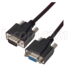 Deluxe Molded Black D-Sub Cable, DB9 Male / Female, 2.5 ft -- CSMNB9MF-2.5 - Image