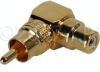 RCA Female-Male Right Angle Adapter Gold -- PF-PM/RA