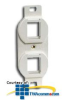 Hubbell 106 Duplex Frame - 2 Ports -- BR106 - Image