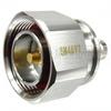 7/16 DIN Male (Plug) to BNC Female (Jack) Adapter, Tri-Metal Plated Brass Body, 1.25 VSWR -- SM4697 - Image