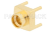 SMP Male Full Detent Connector Solder Attachment Thru Hole PCB, Up To 8 GHz -- PE44849 -Image