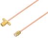 SMA Female 2 Hole Flange to SMP Female Cable 24 Inch Length Using PE-047SR Coax -- PE3W05930-24 -Image