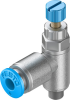 One-way flow control valve -- GRLA-M5-QS-4-RS-D -Image