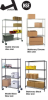 JAKEN WIRE SHELVING UNITS -- HWCS4-3648-74