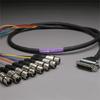 GEPCO 8CH DB25 Audio Snake Cable 25-PIN TO 3-PIN XLR FEMALES -- 20DA88512-DB25XJ-020
