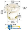 Hubbell 20Amp Flanged Receptacle, 3-Pole, 4-Wire Grounding -- HBL2426 - Image