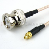 BNC Male to MMCX Plug Cable RG316 Coax in 48 Inch -- FMC0809316-48 -Image