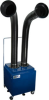 Dual Arm Fume Extractor Floor Sentry Double -- SS-400-FSD - Image