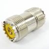 UHF Female (Jack) to UHF Female (Jack) Adapter, Nickel Plated Brass Body -- SM2101 - Image