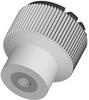 Plastic Knurled Knob - Grey - SS Insert - 8-32 -- 06092-01A1 - Image