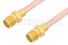 SMA Female to SMA Female Cable 60 Inch Length Using RG402 Coax -- PE3931-60 -Image