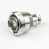 7/16 DIN Female (Jack) to N Female (Jack) Adapter IP67 Mated, Tri-Metal Plated Brass Body, 1.15 VSWR -- SM4423 - Image