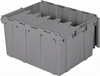 Container, Attached Lid Container 17.20 gal, Gray -- 39175