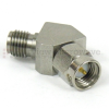 45 Degree SMA Male (Plug) to SMA Female (Jack) Adapter, Passivated Stainless Steel Body, 1.3 VSWR -- SM5246 - Image