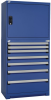 Heavy-Duty Cabinet with Stacking Cabinet, with Partitions, 7 drawers Drawers (36
