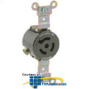 Leviton 15 Amp, 250 Volt, Single Flush Receptacle,.. -- 4560-IG