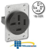 Leviton 4-Pole 4-Wire Non-Grounding Flush Mount Receptacle -- 8350 - Image