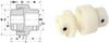Two Piece Junior BoWex Nylon Couplings (metric) -- S5911YMJR141414 -Image