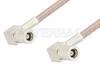 75 Ohm Mini SMB Plug Right Angle to 75 Ohm Mini SMB Plug Right Angle Cable 60 Inch Length Using 75 Ohm RG179 Coax, RoHS -- PE34694LF-60 -Image