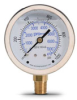 0-1000 psi Liquid filled Pressure Gauge with 2.5 inch mechanical dial -- G25-SL1000-4LB - Image