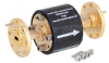 WR-19 Waveguide Isolator with 25 dB min Isolation from 40 GHz to 60 GHz using Round Cover UG-383/U-Mod Flange -- FMWIR1003 -- View Larger Image