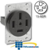 Leviton 60 Amp 250V Grounding Flush Mount receptacle -- 8460