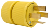 Pass & Seymour® -- Gator Grip Plug, Yellow - D1861 - Image