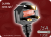 BS 1363 UK13 to EURO RECEPTACLE 2 HOME • Power Cords • International Power Cords • UK Power Cords -- 9707.012 - Image