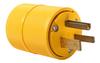 Pass & Seymour® -- Gator Grip Plug, Yellow - D0551