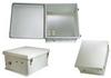 18x16x08 Fiberglass Reinf Polyester FRP Weatherproof Outdoor IP66 NEMA 4 Enclosure, 120 VAC MNT PLT, Solid State Thermostat Heat Gray -- TEF181608-1H0S -Image
