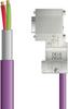 LAPP UNITRONIC® PROFIBUS® D-Sub Cordset to Node Module - Wire Leads to D-sub node - Violet Polyurethane (PUR) - Continuous Flex - 5m -- OLFPB4110117F05 -Image