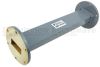WR-137 Waveguide Section 9 Inch Length Straight Using UG-344/U Flange With a 5.85 GHz to 8.2 GHz Frequency Range in Commercial Grade -- SMF137S-09 - Image