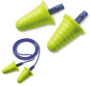 Push-Ins Earplugs with Grip Rings - corded > NRR - 30 > UOM - 200 Pair/Box -- 318-1009