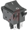Switch, Rocker, Power, DPST, On/Off, Black, Imprinted O/- -- 70207352 - Image